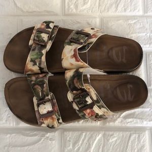 Mad Love floral footbed sandals